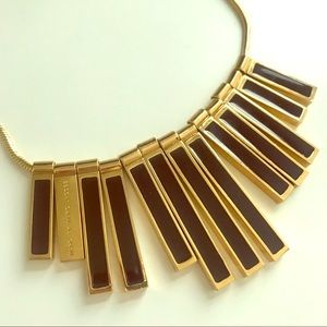 Marc by Marc Jacobs Black Gold Geometric Necklace